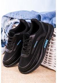Casu - czarne buty sportowe sznurowane casu 20y03/b. Kolor: czarny, niebieski, wielokolorowy