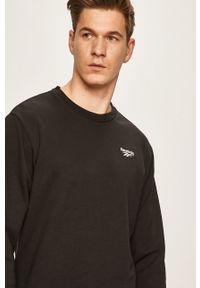 Czarna bluza nierozpinana Reebok Classic casualowa, na co dzień
