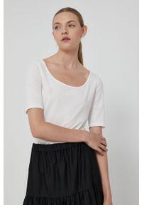 medicine - Medicine - T-shirt Basic. Okazja: na co dzień. Kolor: biały. Materiał: dzianina. Wzór: gładki. Styl: casual