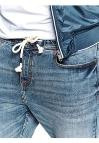 TOP SECRET - Spodnie denim typu jogger. Okazja: na co dzień. Kolor: niebieski. Materiał: denim. Sezon: lato. Styl: casual