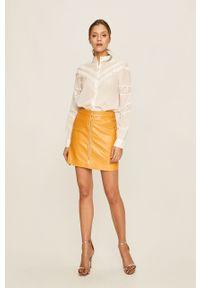 Biała koszula Vero Moda długa, na co dzień, gładkie