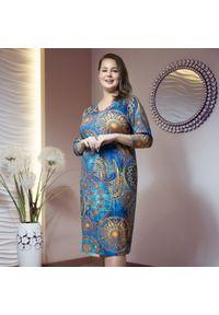 Sukienka dla puszystych Moda Size Plus Iwanek casualowa, na jesień