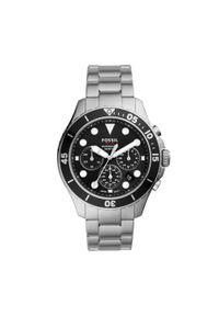 Srebrny zegarek Fossil smartwatch, biznesowy