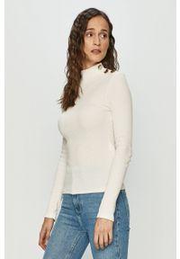 Haily's - Sweter. Kolor: biały. Materiał: dzianina. Długość rękawa: długi rękaw. Długość: długie