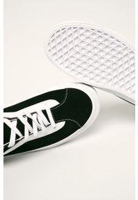 Czarne tenisówki Vans z cholewką, z okrągłym noskiem