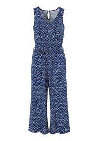 Cellbes Kombinezon z dżerseju niebieski we wzory female niebieski/ze wzorem 42/44. Kolor: niebieski. Materiał: jersey. Długość rękawa: bez rękawów. Styl: klasyczny