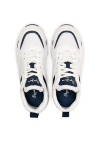 Białe półbuty Pepe Jeans z cholewką