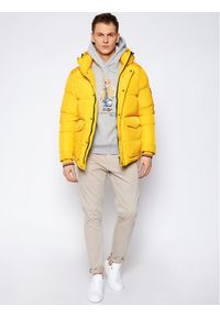Żółta kurtka puchowa TOMMY HILFIGER na zimę