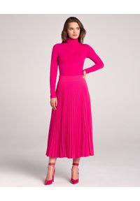 LA MANIA - Plisowana spódnica Lang w kolorze różowym. Kolor: wielokolorowy, różowy, fioletowy. Materiał: materiał #4