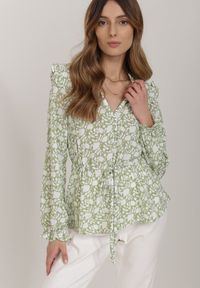 Renee - Jasnozielona Bluzka Leucaia. Kolor: zielony
