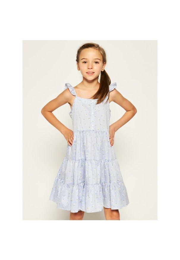 Niebieska sukienka Mayoral na co dzień, prosta, casualowa