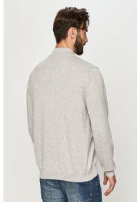 Premium by Jack&Jones - Sweter. Okazja: na co dzień. Kolor: szary. Materiał: dzianina. Długość rękawa: długi rękaw. Długość: długie. Styl: casual