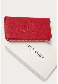 Czerwony portfel Trussardi Jeans gładki