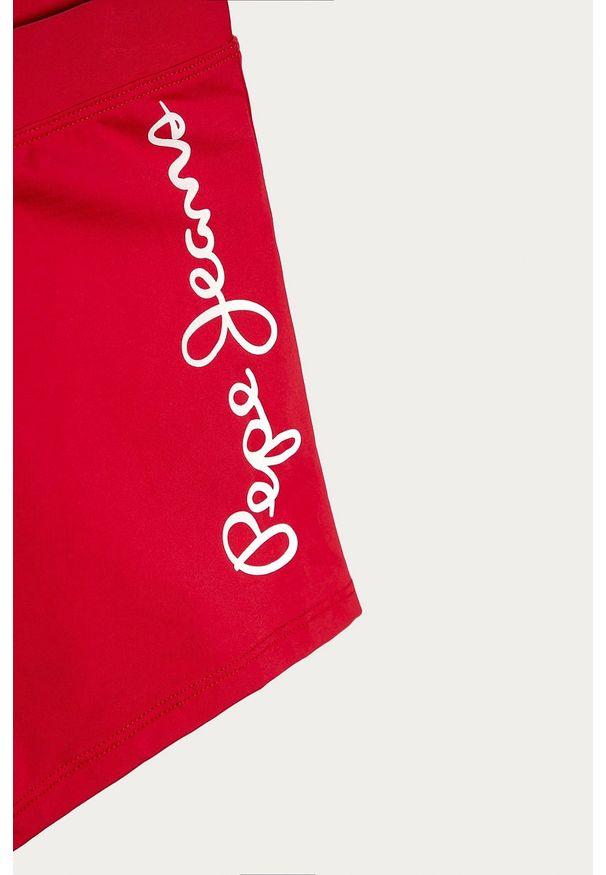 Czerwone kąpielówki Pepe Jeans z nadrukiem