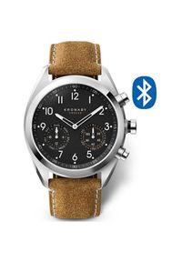 Kronaby Wodoodporny połączony zegarek Apex A1000-3112. Styl: retro