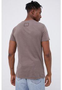 Young Poets Society - T-shirt bawełniany. Okazja: na co dzień. Kolor: brązowy. Materiał: bawełna. Wzór: nadruk. Styl: casual