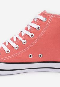 Renee - Pomarańczowe Trampki Kelapheu. Nosek buta: okrągły. Zapięcie: sznurówki. Kolor: pomarańczowy. Materiał: materiał, guma. Szerokość cholewki: normalna. Wzór: aplikacja. Obcas: na płaskiej podeszwie. Styl: klasyczny #6
