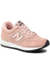 Różowe półbuty New Balance eleganckie, z cholewką