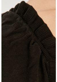 Czarny sweter Answear Lab z długim rękawem, długi, wakacyjny