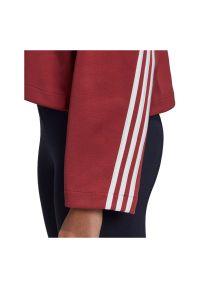Adidas - Bluza damska adidas 3-Stripes Doubleknit GC6944. Materiał: skóra, dzianina, poliester, materiał. Wzór: paski, ze splotem. Sport: fitness #4