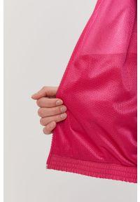Różowa kurtka adidas Originals bez kaptura, gładkie, raglanowy rękaw