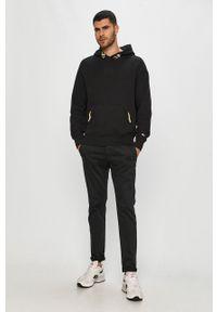 Czarna bluza nierozpinana Tommy Jeans na co dzień, z aplikacjami, casualowa