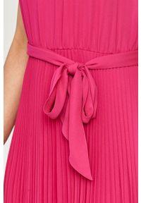 Różowa sukienka Lauren Ralph Lauren casualowa, gładkie, prosta
