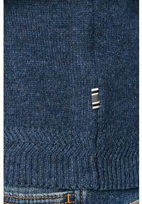 Niebieski sweter Tailored & Originals długi, na co dzień, z długim rękawem