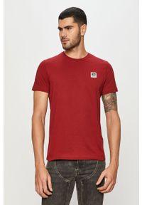 Czerwony t-shirt Diesel z nadrukiem