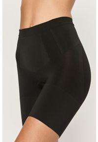 Spanx - Szorty modelujące Oncore Mid-Thigh. Kolor: czarny. Materiał: dzianina. Wzór: gładki