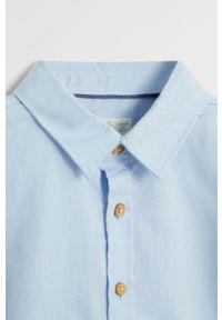 Niebieska koszula Mango Kids elegancka, długa