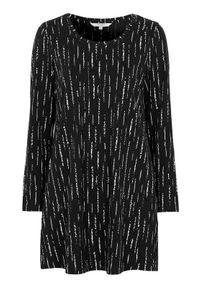 Cellbes Rozszerzana tunika z kieszeniami Czarny biały we wzory female czarny/biały/ze wzorem 42/44. Kolor: wielokolorowy, biały, czarny. Materiał: jersey. Długość rękawa: długi rękaw. Długość: długie