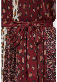 TwinSet - Twinset - Sukienka. Materiał: tkanina. Długość rękawa: długi rękaw. Typ sukienki: rozkloszowane