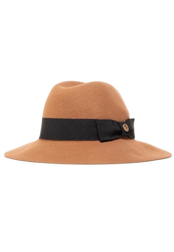 Brązowy kapelusz Trussardi Jeans