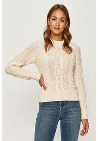 Biały sweter Pepe Jeans na co dzień, raglanowy rękaw, casualowy