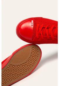 Czerwone tenisówki Big-Star z cholewką, z okrągłym noskiem