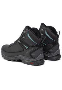Czarne buty trekkingowe salomon trekkingowe, z cholewką, Thinsulate