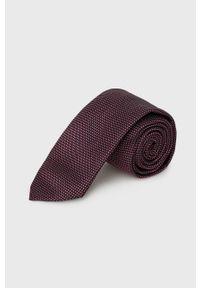 Hugo - Krawat. Kolor: czerwony. Materiał: materiał