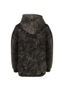 WILD MASCOT - Luźna bluza z kapturem. Typ kołnierza: kaptur. Kolor: brązowy. Materiał: dresówka, bawełna. Wzór: nadruk