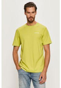 T-shirt columbia z nadrukiem, casualowy, z okrągłym kołnierzem