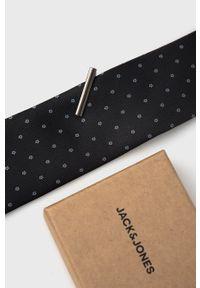 Jack & Jones - Spinka i krawat. Kolor: czarny. Materiał: materiał, poliester