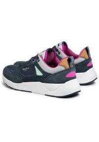 Pepe Jeans - Sneakersy PEPE JEANS - Orbital 2.1 PMS30598 Navy 595. Okazja: na co dzień. Kolor: niebieski. Materiał: zamsz, materiał, skóra ekologiczna. Szerokość cholewki: normalna. Styl: casual