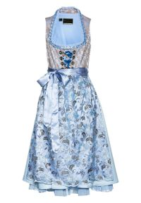 Fioletowa sukienka bonprix z haftami