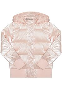 Różowa kurtka puchowa Guess