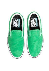 Zielone buty sportowe Vans bez zapięcia, z cholewką