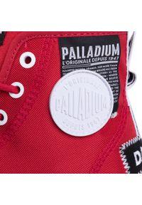 Czerwone trapery Palladium z cholewką