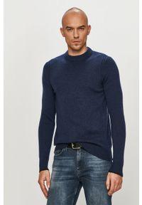 Niebieski sweter Calvin Klein na co dzień, z długim rękawem