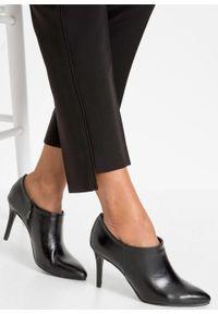 Czarne spodnie bonprix krótkie, na spotkanie biznesowe, biznesowe