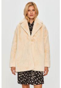 Kremowy płaszcz TwinSet na co dzień, bez kaptura, klasyczny #8