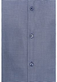Niebieska koszula Strellson casualowa, na co dzień, z włoskim kołnierzykiem